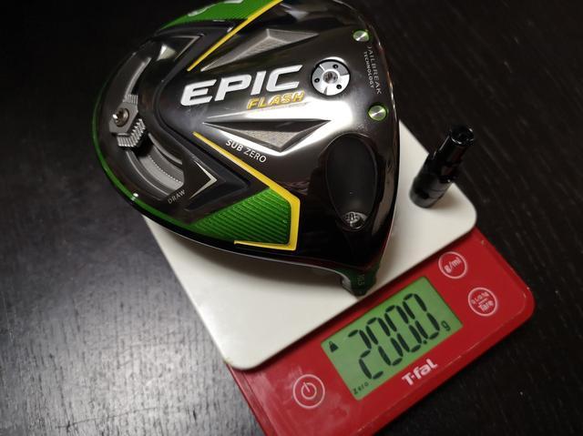 画像: エピックフラッシュサブゼロのヘッド重量はウェート込みで約200グラムだ
