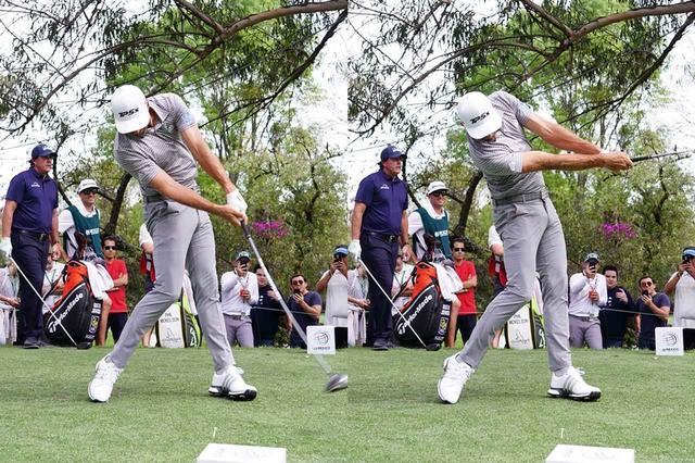 画像: 手や腕を使わないことでフェースの開閉を抑え、体の回転のみで打っている(写真は2019年のWGCメキシコ選手権 撮影/姉崎正)
