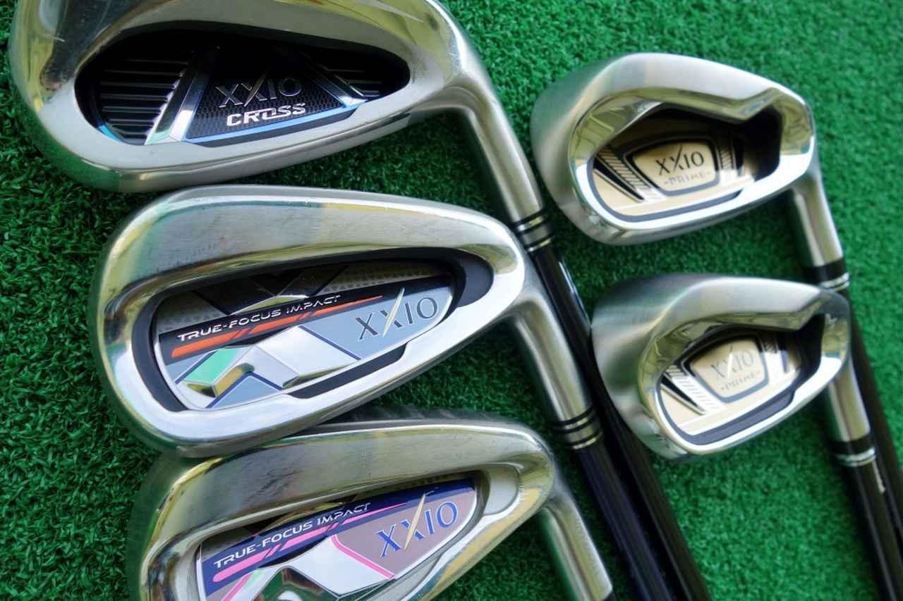 画像: レディースクラブを含めた4種類のアイアンをゴルフ女子が試打してみた(写真は左上から時計回りにゼクシオクロス、ゼクシオプライム短尺バージョン、ゼクシオレディス、ゼクシオテン)