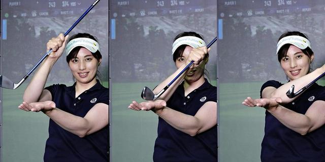 画像: インパクト前後でクラブを傾けて、ヘッドを左に倒そう
