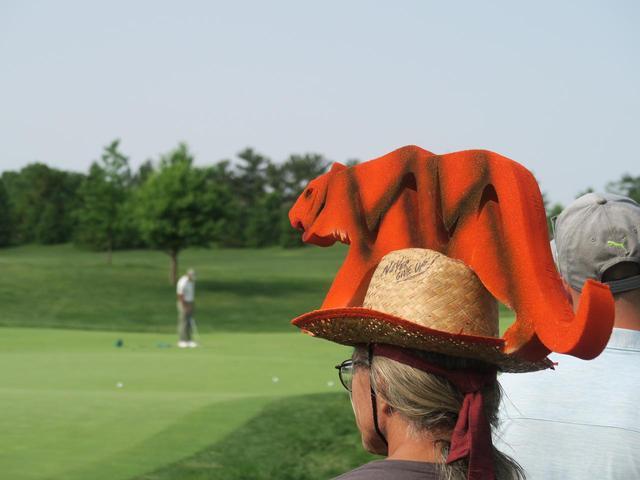 画像: タイガー(虎)が見つめる先にタイガー・ウッズ