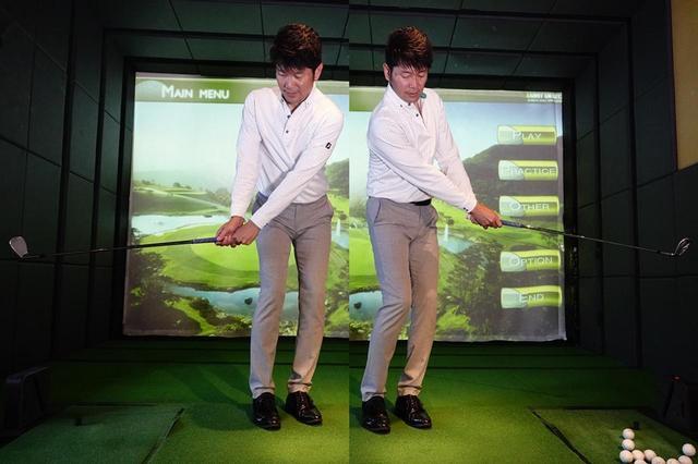 画像: アプローチのスウィングは振り子のイメージで。左右対称を意識しよう