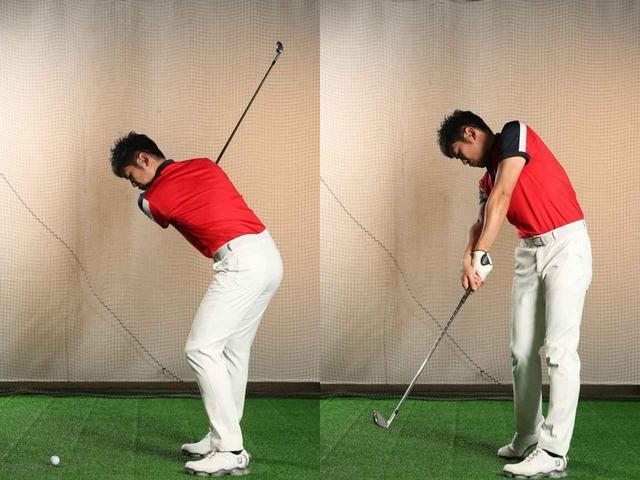 画像: インパクトでピン! で飛距離が伸びる。地面反力を活かす「左ひざ」の使い方【驚異の反力打法~飛ばしたいならバイオメカ#29】 - みんなのゴルフダイジェスト