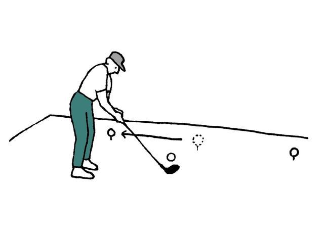 画像: 「ティーマーカーの位置は、委員会が設定する。そしてそのティーイングエリアからプレーするすべてのプレーヤーに対して同じ位置のままであるべき RuleMatである」と規則で定められている。