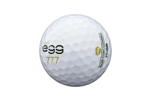 画像: 適合ボールと比べて約14ヤード飛んだ高反発ボール「スーパーeggボール」