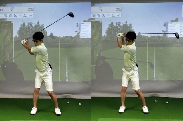画像: 写真左が柴田の想定するトップ位置だが、実際には写真右のようにルーズなトップになっているという