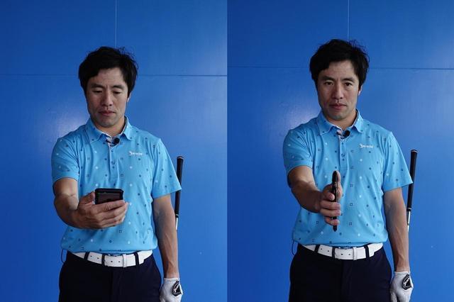 画像: スマホを持つときの「手の形」がポイント!? ショートアイアンを狙った方向に打つコツ【動画あり】 - みんなのゴルフダイジェスト