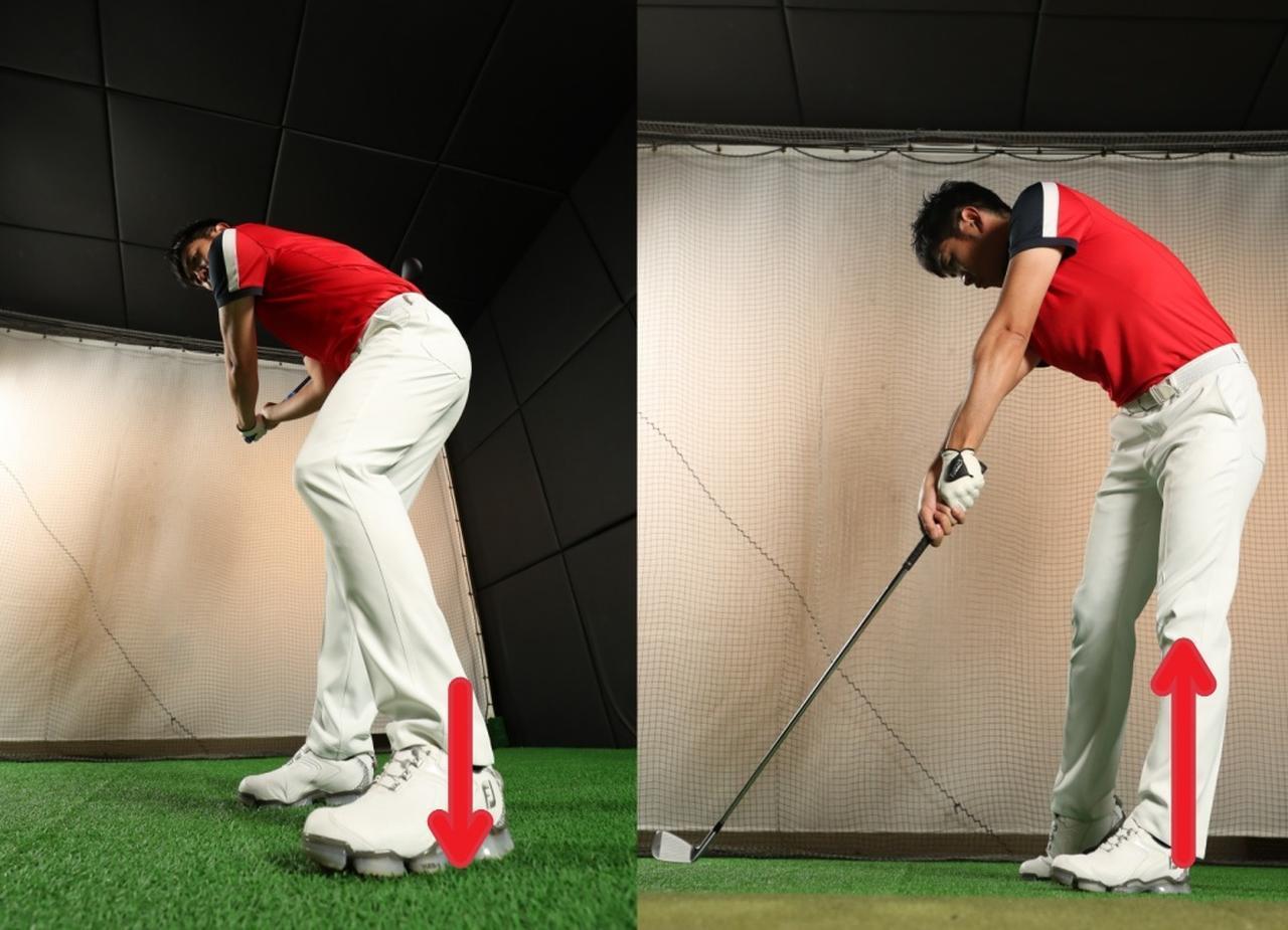 画像: 同じ動作をしているのに、一人ひとりの意識はことなる。ゴルフではよくあることだ。自分に合うのはどの意識が強いときか。「踏み込む」「蹴る」「力を受け止める」など、いろいろ試しながらスウィングしてみよう