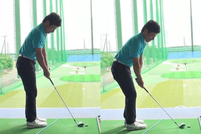 画像: 右のようにボールとの距離が離れすぎるとトウ側が地面から浮いてしまい、ボールを乗せて飛ばすことが難しくなってしまう