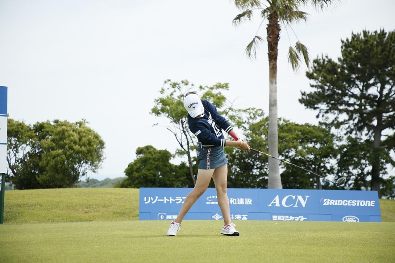 Images : 13番目の画像 - 初優勝! 稲見萌寧のドライバー連続写真 - みんなのゴルフダイジェスト