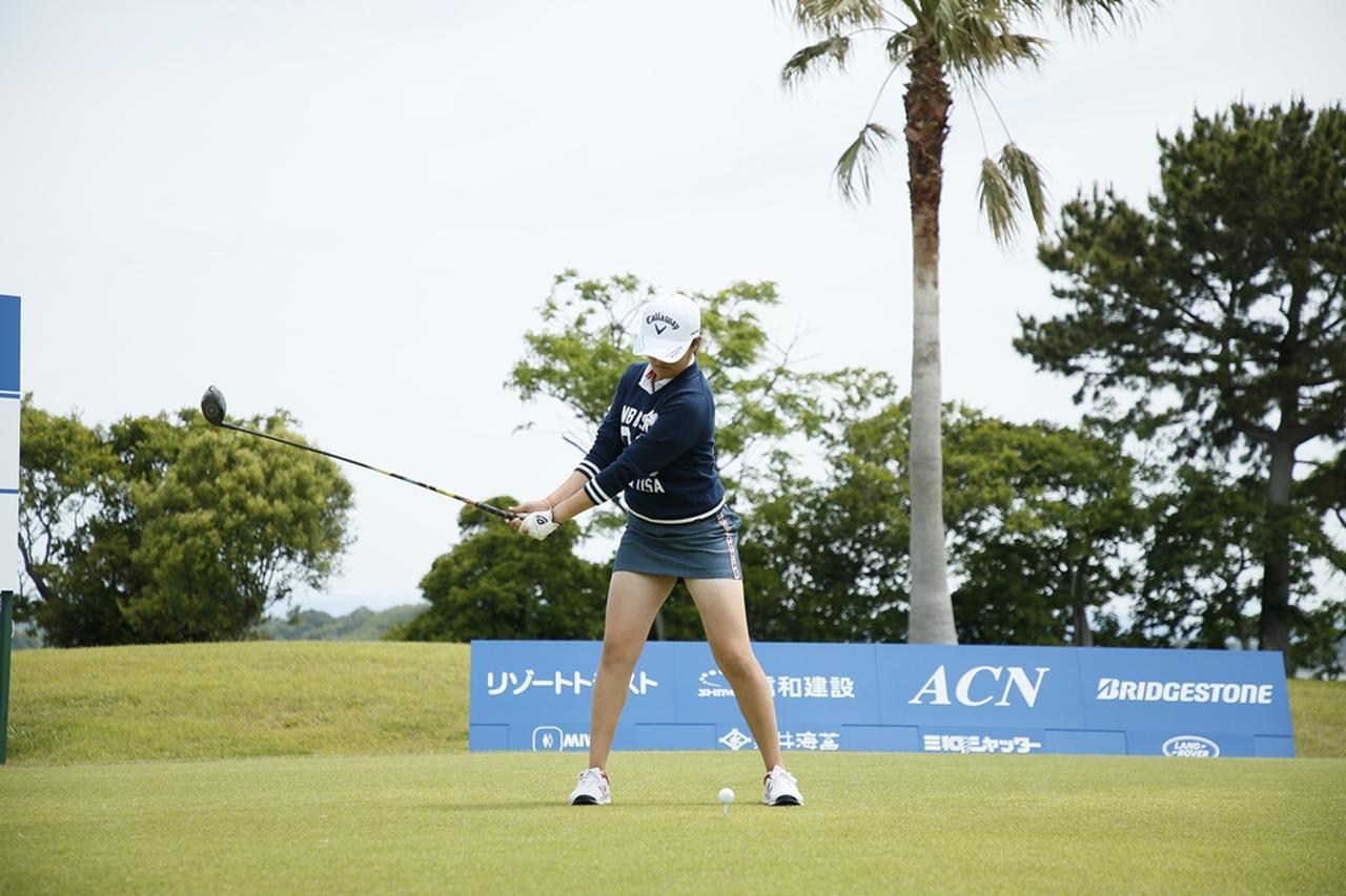 Images : 5番目の画像 - 初優勝! 稲見萌寧のドライバー連続写真 - みんなのゴルフダイジェスト