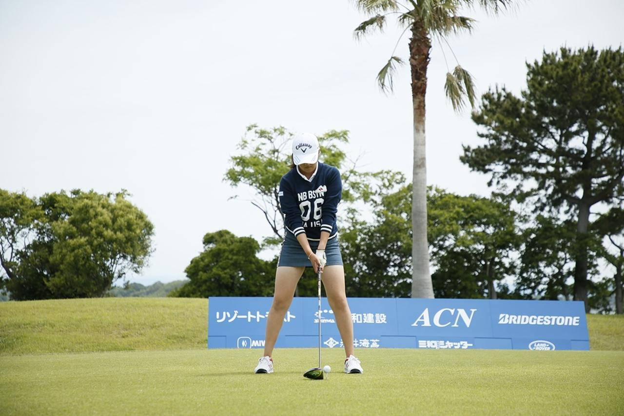 Images : 1番目の画像 - 初優勝! 稲見萌寧のドライバー連続写真 - みんなのゴルフダイジェスト