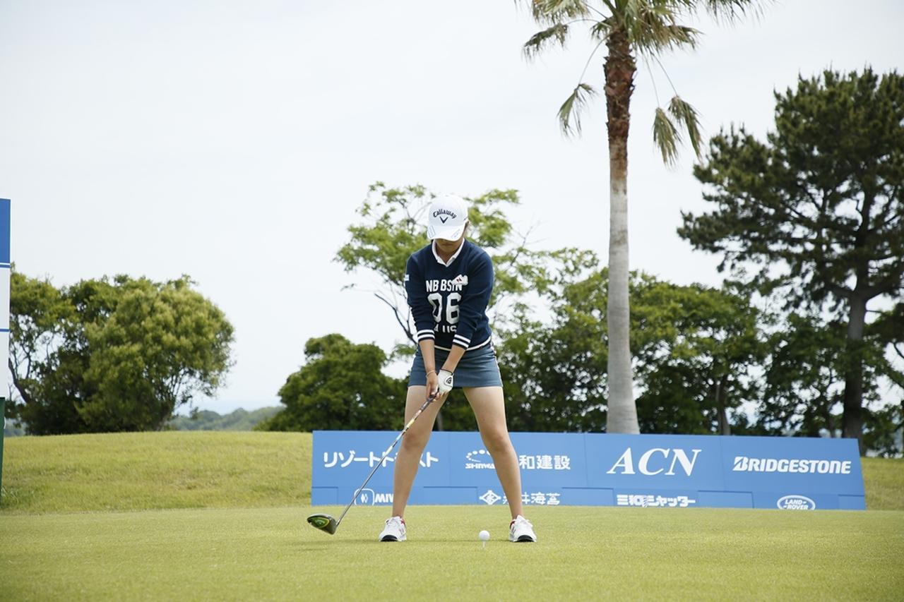 Images : 2番目の画像 - 初優勝! 稲見萌寧のドライバー連続写真 - みんなのゴルフダイジェスト