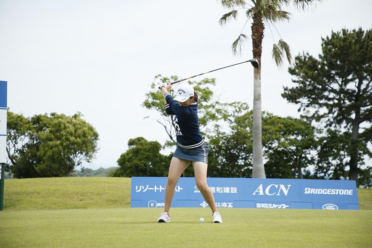 Images : 10番目の画像 - 初優勝! 稲見萌寧のドライバー連続写真 - みんなのゴルフダイジェスト