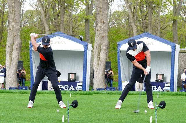 画像: トップでフェースが空を向くシャットフェース(写真左)から効率的なスウィングをするB・ケプカ(写真は2019年の全米プロゴルフ選手権 写真/姉崎正)