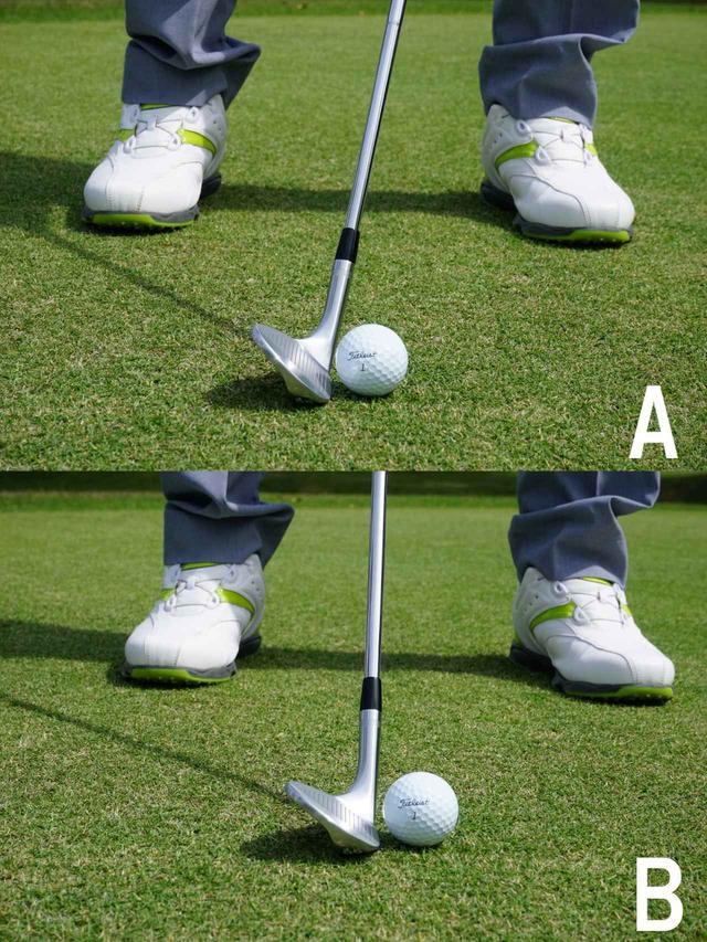 画像: いつもサンドウェッジを使う時【A】と【B】どちらの構えをしてますか?