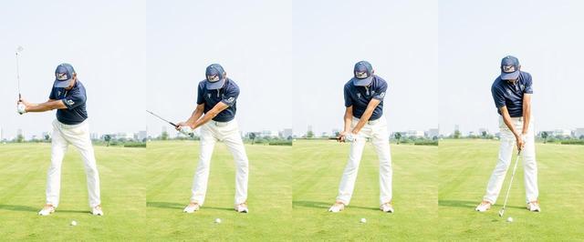 画像: 左膝→腰→腕→クラブの順で動かすとヘッドを加速させ、効率的なインパクトができる