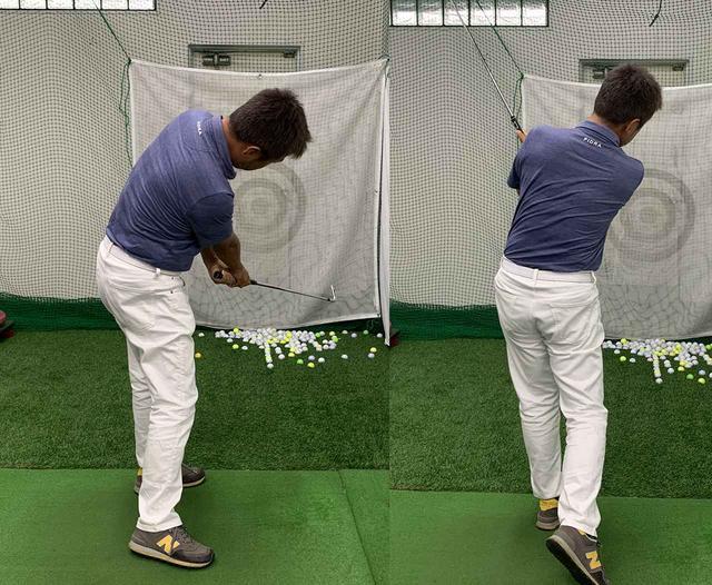画像: フォローでは体の回転に伴ってフェースを閉じていく。これがボールをつかまえる感覚か!
