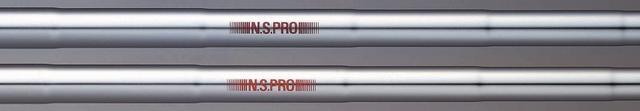 画像: 90年代には「NSプロ」という重量級のシャフトを展開していた(写真は上がNSプロレッド、下がNSプロオレンジ)