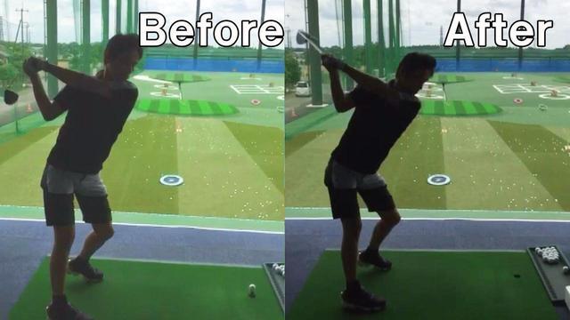 画像: 右手の使い方を改善したことで、トップ位置にも大きな変化が見られた