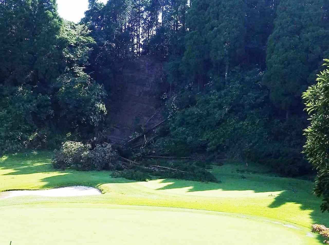 画像: マグレガーCCでは、豪雨による記録的な降水量により土砂崩れによる被害も起きた