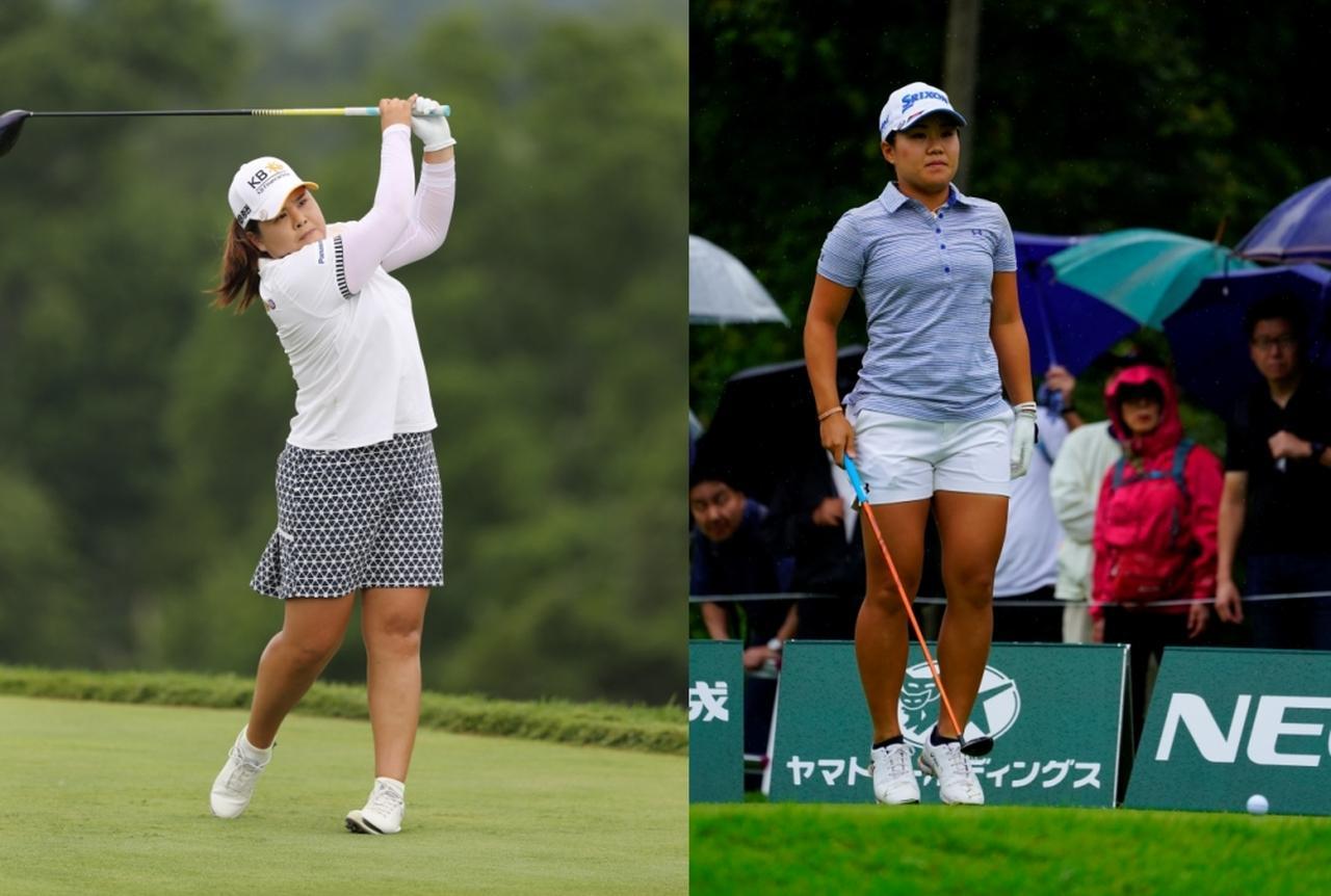 画像: 日本女子プロゴルフ選手権に元世界ランキング1位のパク・インビ(左)と畑岡奈紗(右)。普段は米女子ツアーを拠点に置く選手も出場することで必然的にハイレベルな争いとなる(写真は2018年の全米女子オープン 撮影/南しずか 2019年の日本女子オープンゴルフ選手権(畑岡)撮影/岡沢裕行)