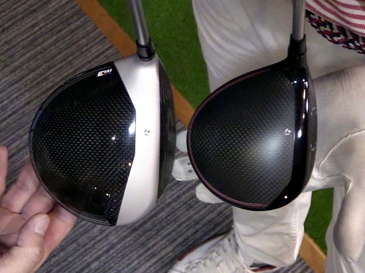 画像: 同じテーラーメイドのドライバーで460ccの「M3 460」(左)と比較すると、その小ささがよく分かる
