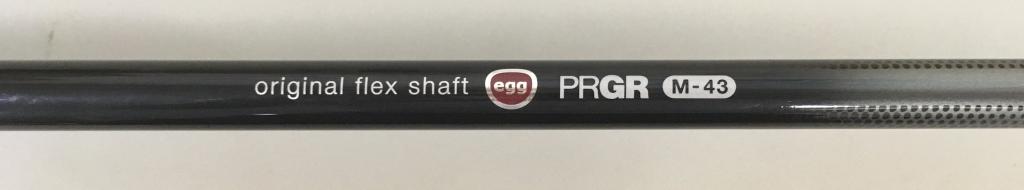 画像: PRGR「egg 5500(ゴーゴー)」のオリジナルシャフト。最大でも44.75インチの長さにとどめたことによるヘッドターンのしやすさも隠れた飛びのスパイスになっている
