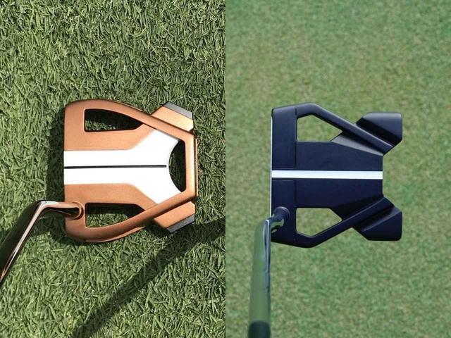 画像: テーラーメイドのスパイダーX(左)とオデッセイのストロークラボTEN(右)のヘッド形状がよく似ている