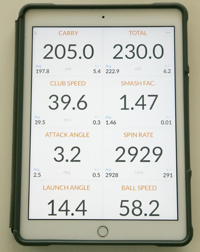 画像: 弾道計測定器で飛距離はもちろんヘッドスピードやボール初速、スピン量を確認することができる(撮影/矢田部裕)