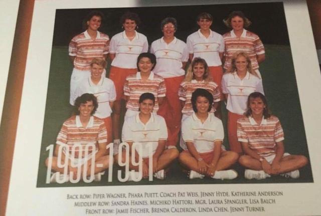 画像: テキサス大学で活躍した当時の服部道子(写真は2列目の左から2番目)