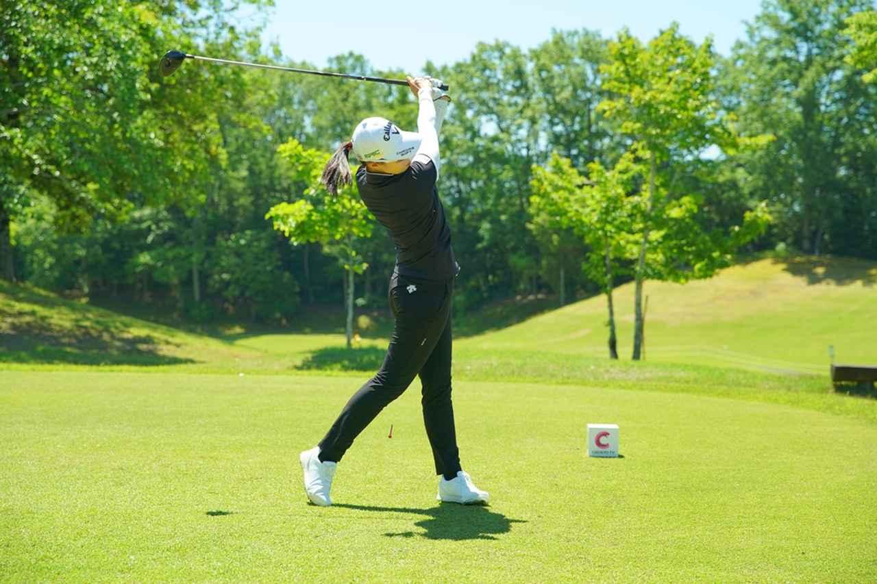 Images : 16番目の画像 - 柏原明日架のドライバー連続写真 - みんなのゴルフダイジェスト