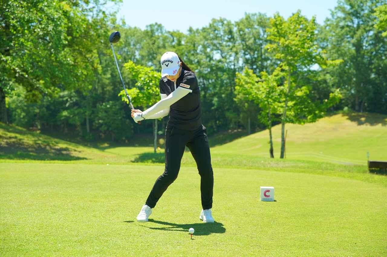 Images : 9番目の画像 - 柏原明日架のドライバー連続写真 - みんなのゴルフダイジェスト