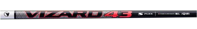 画像: 「VIZARD43」(写真はSシャフト)。軽量・短尺設計で、試打に使用したSRフレックスは長さ45.25インチ、重量44.5グラムだ