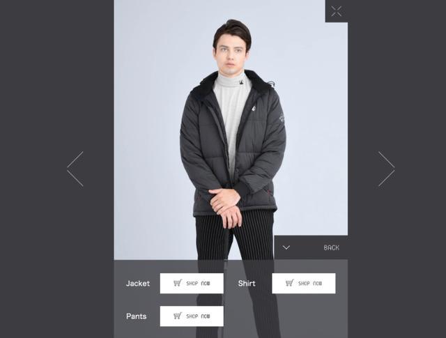 画像: AIモデルの起用により、色やコーディネートの組み合わせや、選択肢も瞬時にかつ最大限に見せることが可能に(メーカー提供写真)