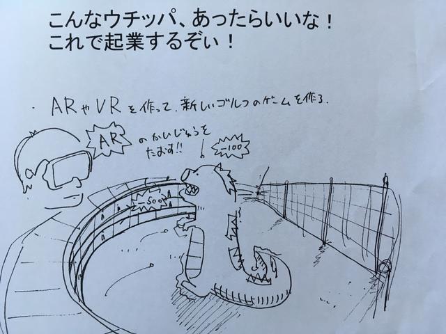 画像: ドライビングレンジで「コジラ」を倒す!実現すれば、ゴルフ練習場は巨大なゲーム施設にもなることだろう(大学提供写真)