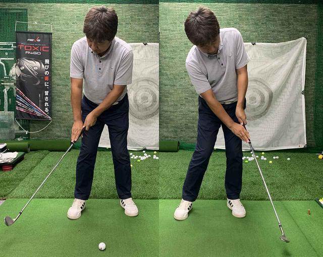 画像: 左手主体で体と一体化したスウィングをする