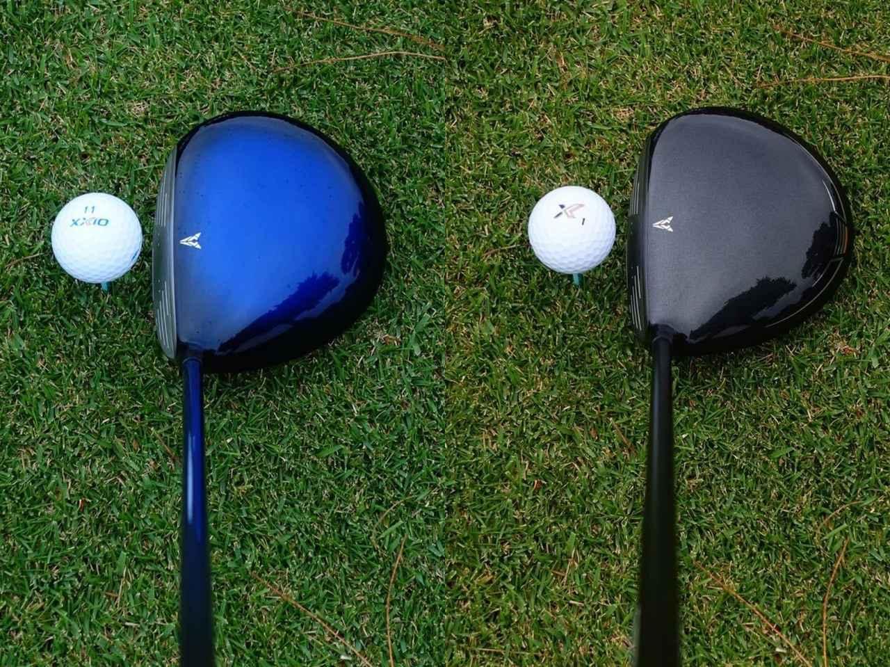 画像: 左がゼクシオ11、右がゼクシオX。構えた印象は異なるが、出るボールはよく似ている