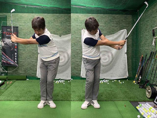 画像: ステップ3は両足のかかとをくっつけて。回転を意識して打つと良い感じです