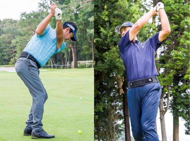 画像: 「MIDORI PF1」を試してくれた柳沢伸祐プロ(写真左)と高見和宏プロ(写真右)