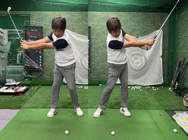 """画像: ゴルフ歴25年でも効果ある? 古閑美保、上田桃子もやった「坂田塾」の""""基本ドリル""""をゴルフバカが試してみた - みんなのゴルフダイジェスト"""