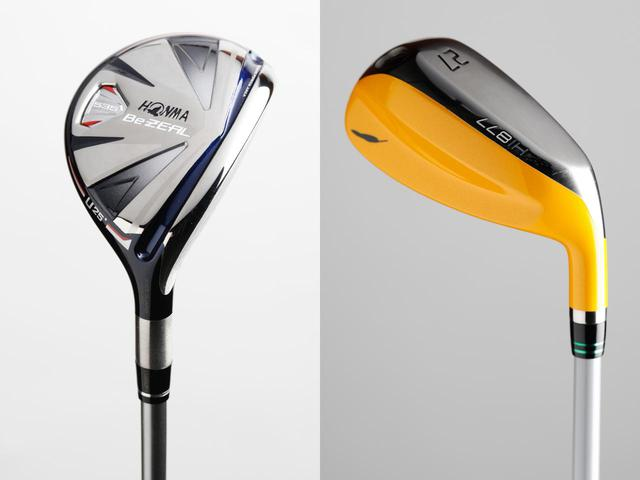 画像: ウッド型UT(左)とアイアン型UT(右)。形状は大違いだが、どちらもユーティリティ(撮影/小林司)