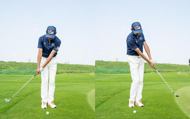 画像: 振り幅は右50センチ、左50センチ、合わせて1メートルくらいの振り幅がベストだと中村(撮影/田中宏幸)