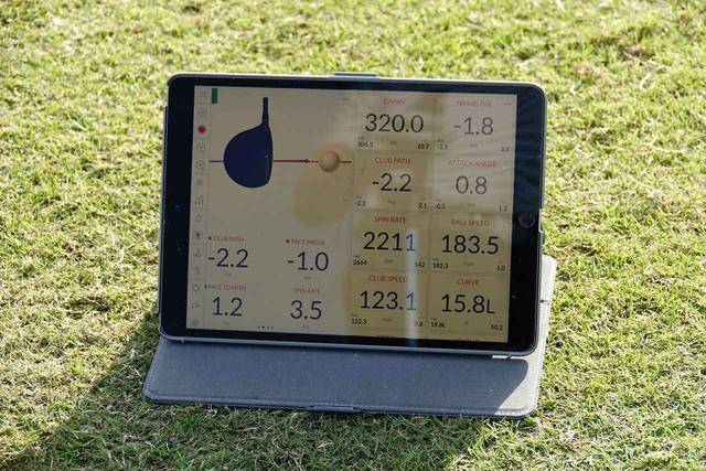 画像: ダンロップフェニックスで計測したナップの弾道。マン振りせずにキャリーは320ヤード