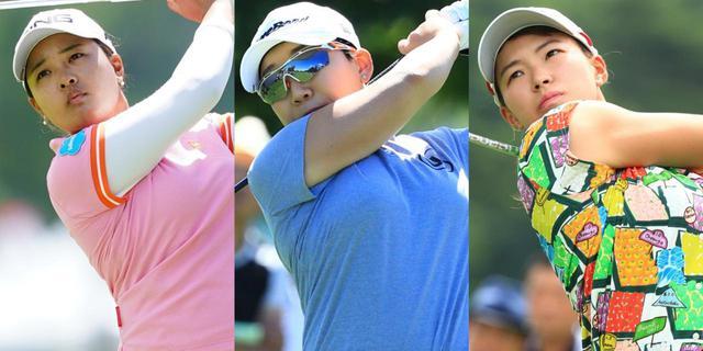 画像: 左から賞金ランク1位の鈴木愛、2位のシン・ジエ、3位の渋野日向子。2019年シーズン賞金女王となるのはだれだ?