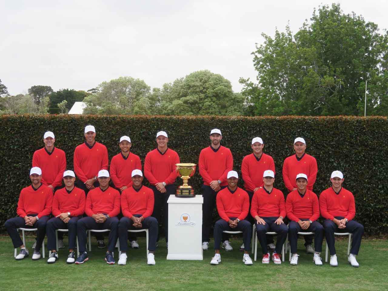 画像: タイガー・ウッズ率いる米国選抜チーム