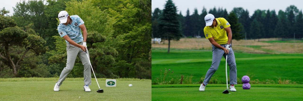 画像: 写真は左は2018年の「ツアー選手権」(撮影/姉崎正)、右は2019年の「セガサミーカップ」(撮影/岡沢裕行)。見た目の変化は極小だが、「Y字」から「逆K字」へとイメージは変化