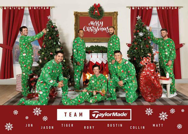 画像: テーラーメイドのクリスマスカード。メンツがなにしろ豪華