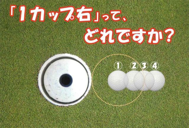 画像: (写真1)あなたは「1カップ右」といわれたらどこを狙う?