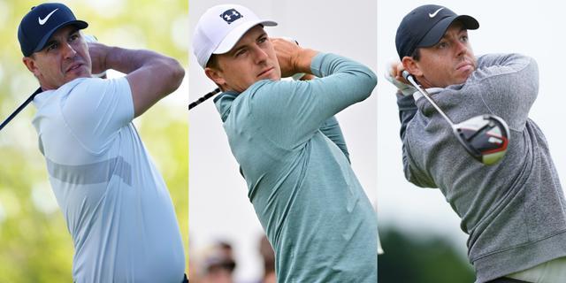 画像: タイガーはブルックス・ケプカ(左)、ジョーダン・スピース(中)、ローリー・マキロイ(右)の3人の名前を挙げた